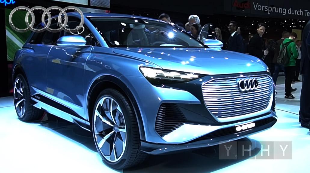 Концепт Audi Q4 e-Tron, новый мини-внедорожник в Женеве 2019 года