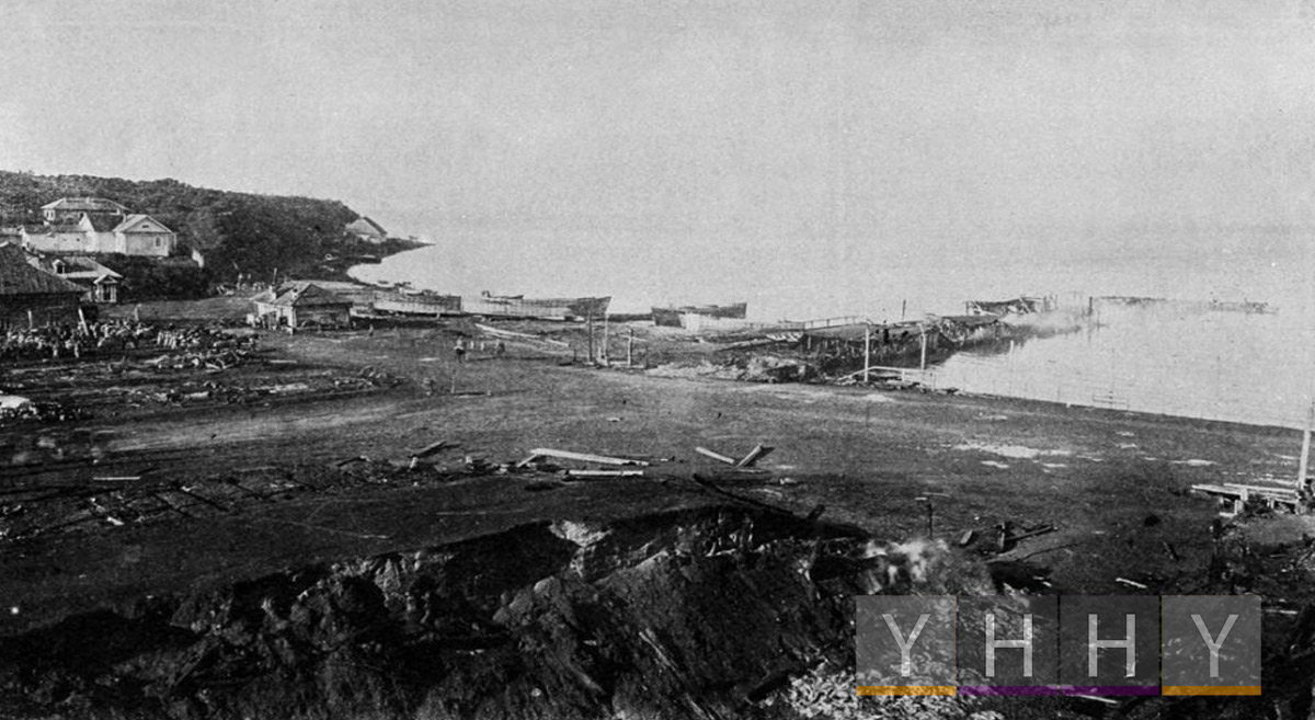 Сахалинская каторга: Вторая половина XIX – начало XX века: Корсаковский порт 1905 год.