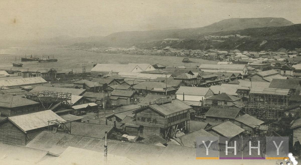 Общий вид города Маока (Губернаторство Карафуто) 1925 год.