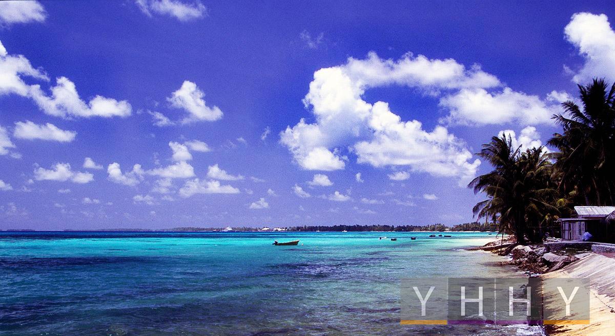 Пляж на атолле Фунафути, Тувалу