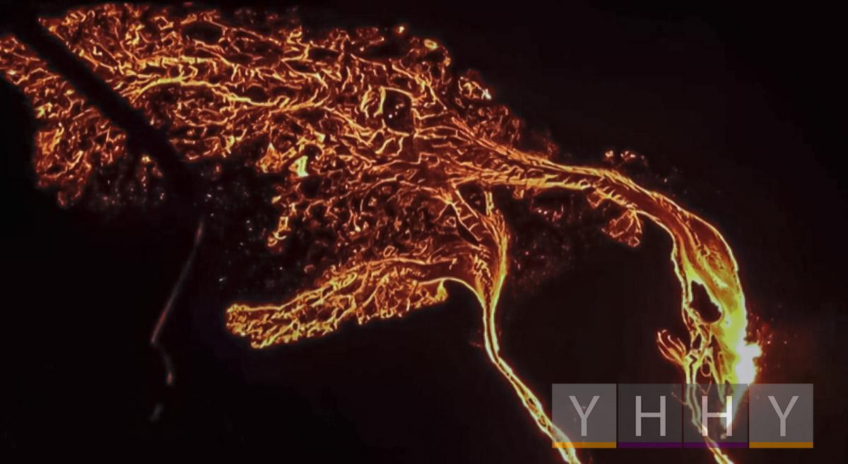 Извержение вулкана недалеко от столицы Исландии