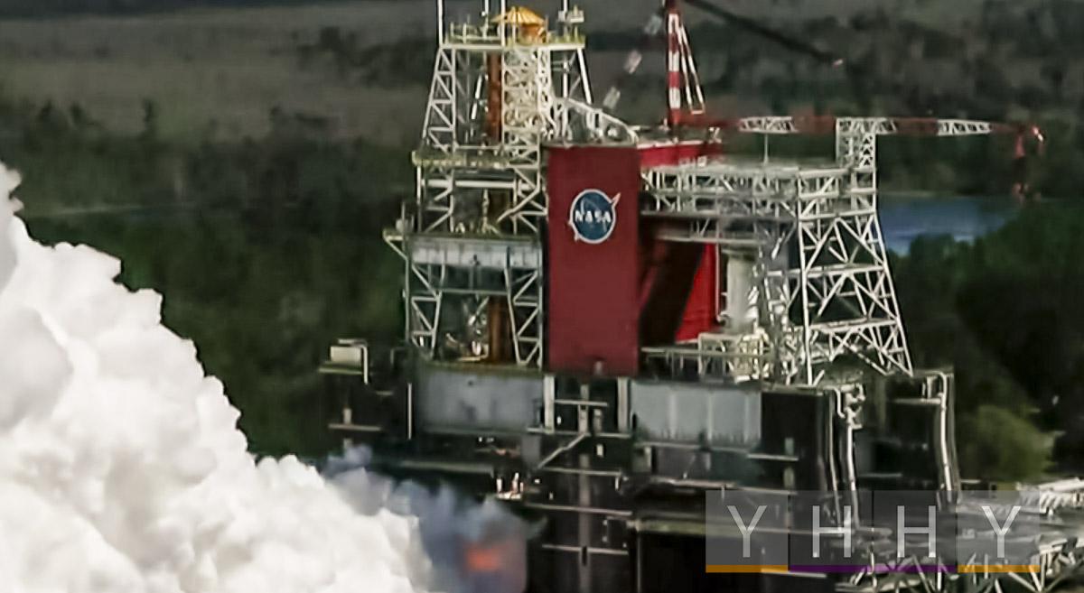 НАСА завершило испытательный запуск двигателя лунной ракеты