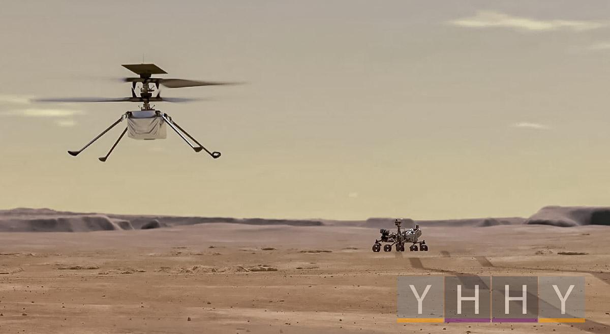 Первые полеты вертолета НАСА Ingenuity «Изобретательность» на Марсе