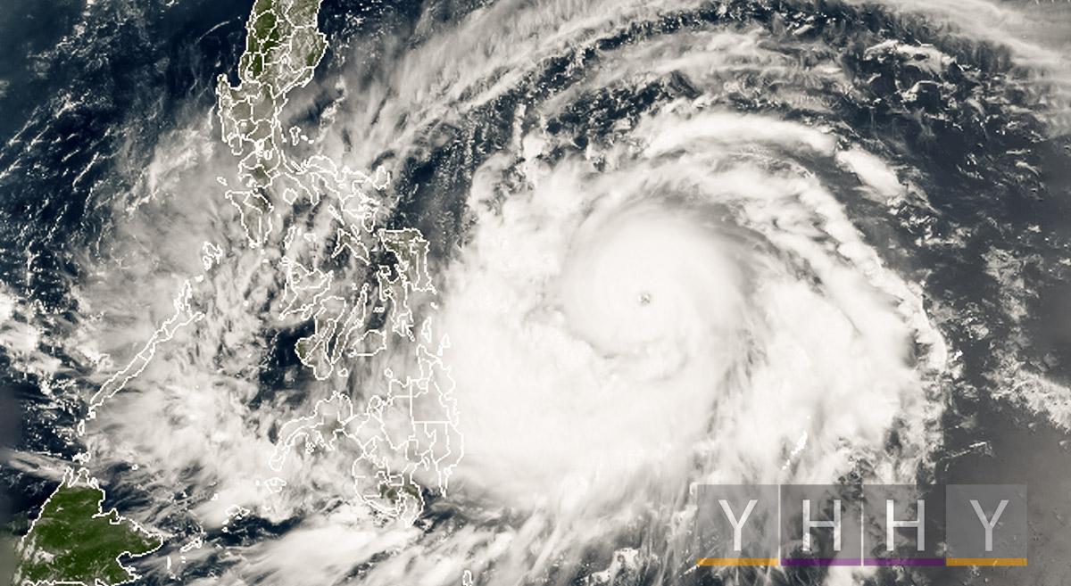 Супер тайфун Surigae быстро переходит в категорию 5 возле Филиппин